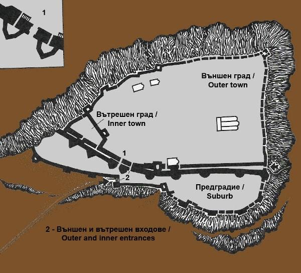 bulgarian castles shumen plan