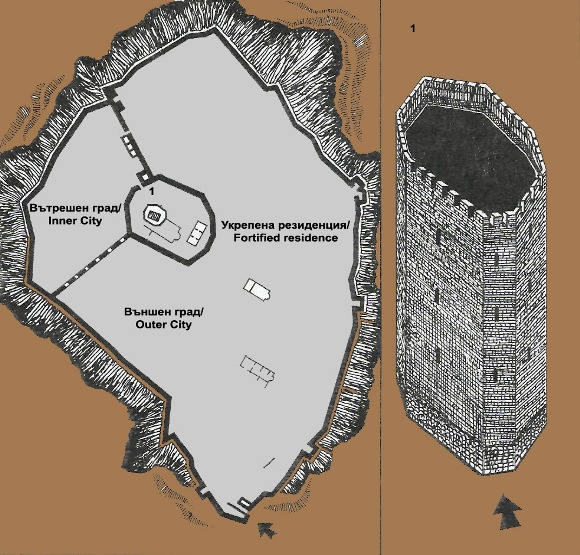 bulgarian castles tsepina plan